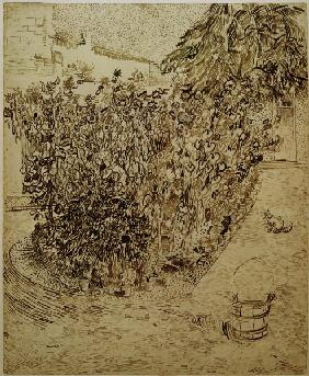 V.van Gogh, Garden with Sunflowers/Draw.