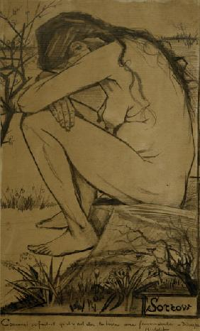 V.van Gogh, Sorrow / Drawing / 1882