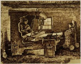 V.van Gogh, Weaver w.Baby in Highchair