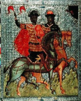 St. Boris and St. Gleb Mounted c.1377