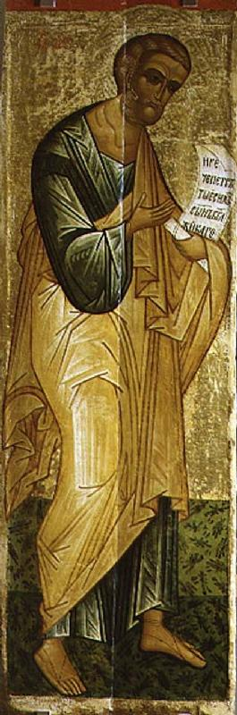 The Holy Apostle Peter, Russian icon from the Deesis of the Church of St. Vlasius 15th centu