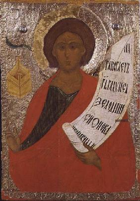The Holy Prophet Zacharias, Russian icon from an iconostasis in the Antoniev Monastery 1560s