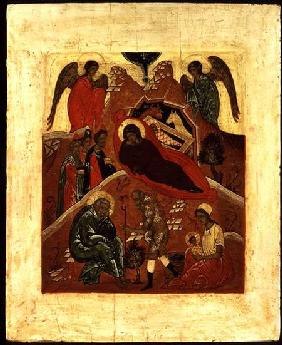 Icon of the Nativity, the Adoration of the Magi and the Temptation of St. Joseph c.1500