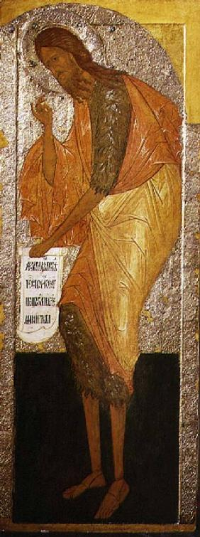 St. John the Forerunner, Russian icon from an iconostasis in the Antoniev Monastery 16th centu