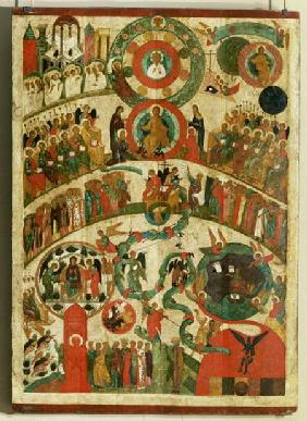 The Last Judgement, icon from the Novgorod school 15th centu