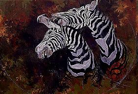 Stripes, 1997 (acrylic and pencil crayon on paper)