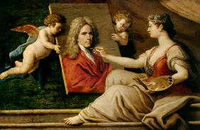 Self Portrait in an Allegory of the Arts