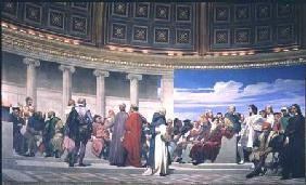 Hemicycle: Artists of All Ages, detail of Ictinus, Apelles and Phidias 1836-41