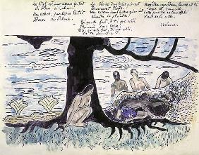 Gauguin, Paul : Illustration zu einem Gedi...