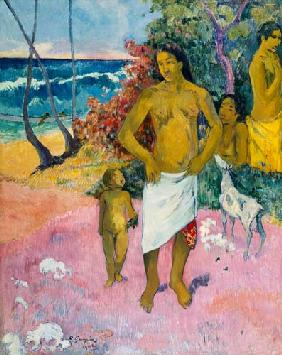 A Walk by the Sea, or Tahitian Family 1902