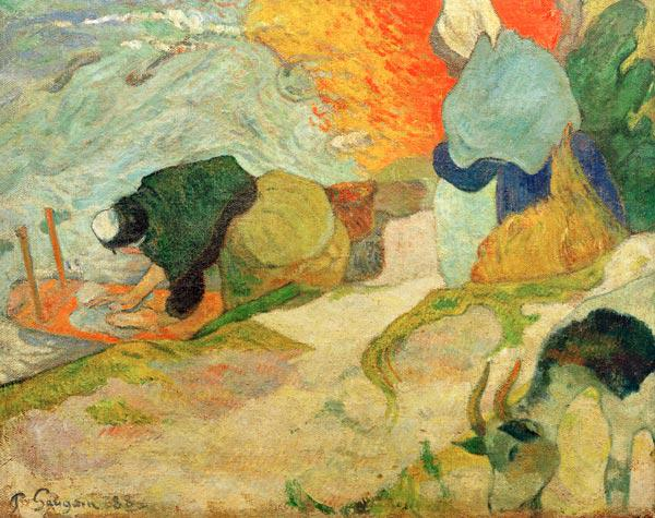 Gauguin, Paul : W�scherinnen am Roubine-du...