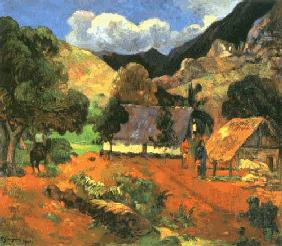 Gauguin, Paul : Landschaft mit drei Person...