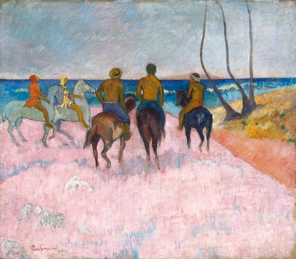 Gauguin, Paul : Reiter am Strand (I) (Cava...