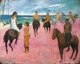 Gauguin, Paul : Reiter am Strand