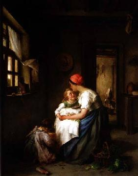 Motherly cares 1864
