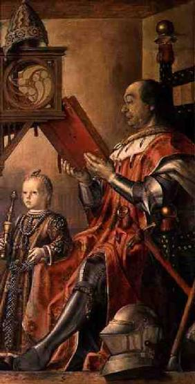 Portrait of Federigo da Montefeltro, Duke of Urbino (1422-82) and his son Guidobaldo (d.1508)