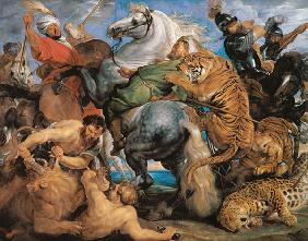 The Tiger Hunt, c.1616 (oil on canvas) 17th