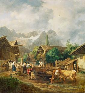Morgen in Partenkirchen 1819