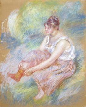 After the Bath, c.1890 (pastel on paper) 17th