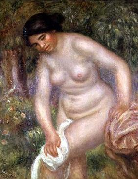 Bather drying herself 1895