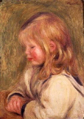 The Child in a White Shirt Reading 1905
