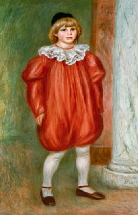 Claude Renoir in a Clown Costume 1909