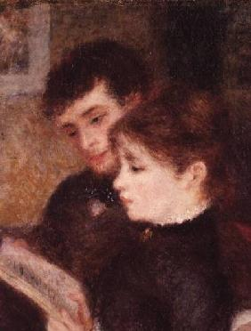 Couple Reading (Edmond Renoir and Marguerite Legrand)