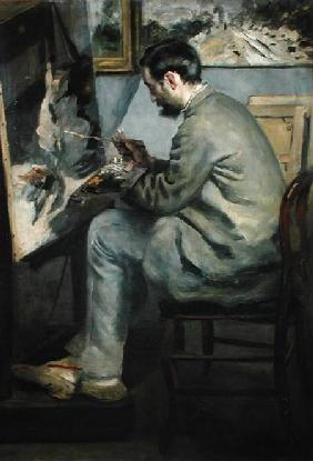 Frederick Bazille at his Easel 1867