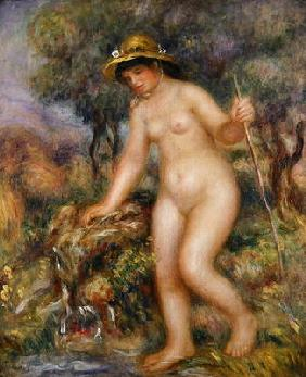 La Source or Gabrielle Nue (oil on canvas) 19th