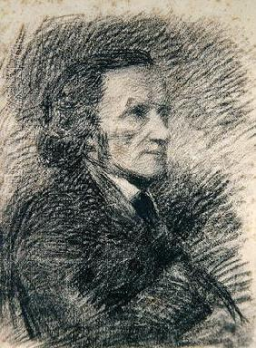 Portrait of Richard Wagner (pencil on paper) 19th