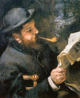 Claude Monet (1840-1926) reading a newspaper 1872