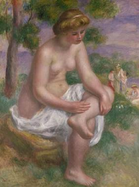 Seated Bather in a Landscape or, Eurydice 1895-1900