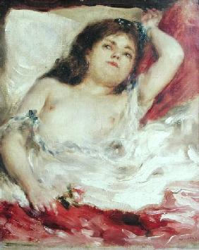 Semi-Nude Woman in Bed: The Rose before 187