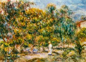 The woman in white in the garden of Les Colettes 1915