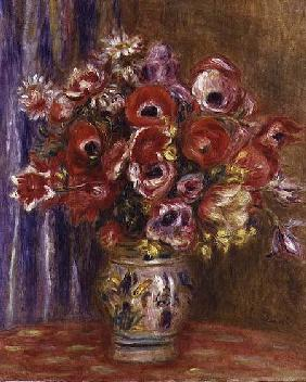 Vase of Tulips and Anemones 1895