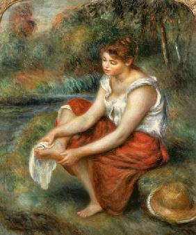 Woman Washing her Feet