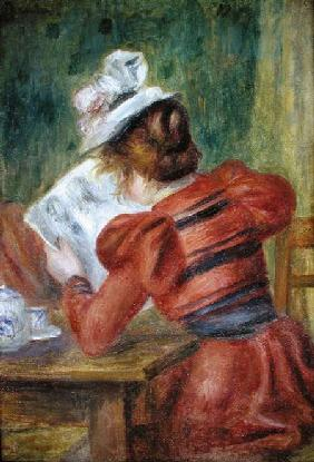 Young Girl Reading 1897
