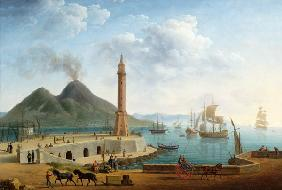 View of Vesuvius from the Harbour of Naples 1791