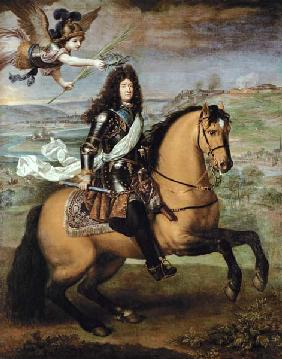 Equestrian Portrait of Louis XIV (1638-1715) Crowned by Victory c.1692