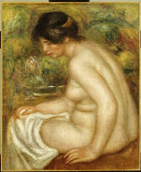 Side view of a seated bather (Gabrielle)