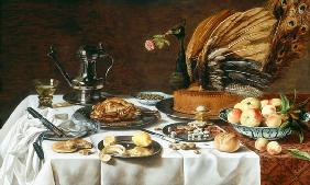Still Life with a Peacock Pie 1627