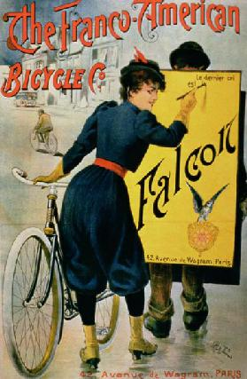 Poster advertising 'The Franco-American Bicycle Co.', Paris