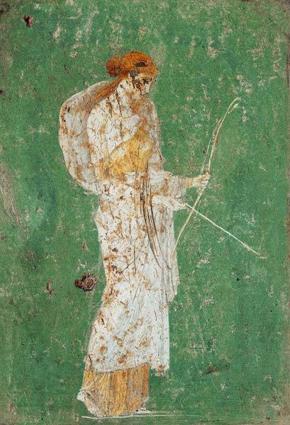 Roman civilization. Fresco depicting Diana