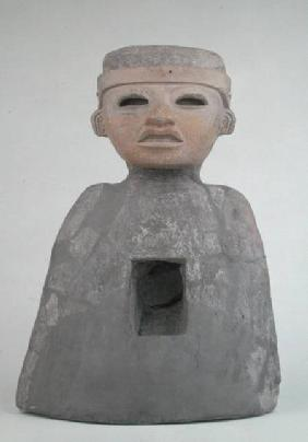 Bust with a Mask, found in tomb on north side of the Ciudadela, Teotihuacan 400-650