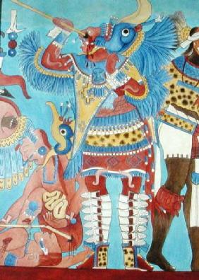 Reproduction of a Mural at Cacaxtla, Mexico
