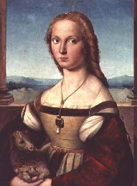 Portrait of a Young Woman with a Unicorn c.1505-6