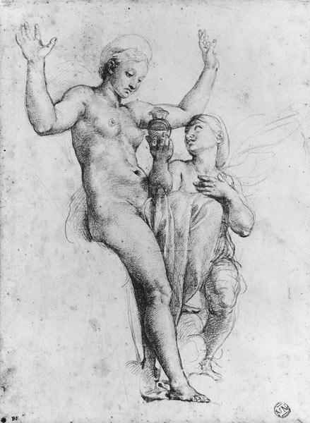 Psyche presenting Venus with water from the Styx