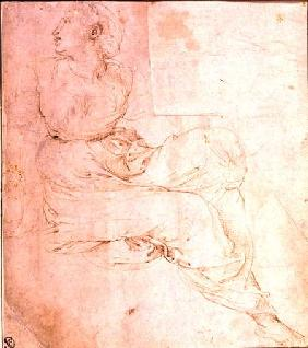 Study of Erato, for 'The Parnassus' 1510-11  &