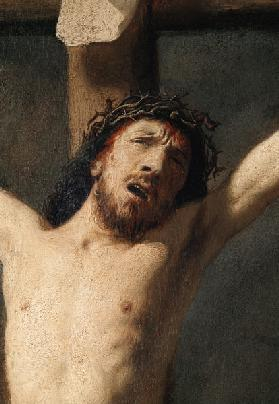 Christ on the Cross, detail of the head detail of