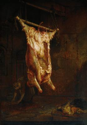 Rembrandt / Butchered ox / c.1655